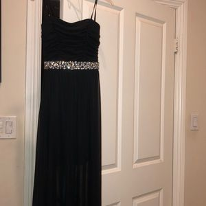 Dresses - black jeweled prom dress